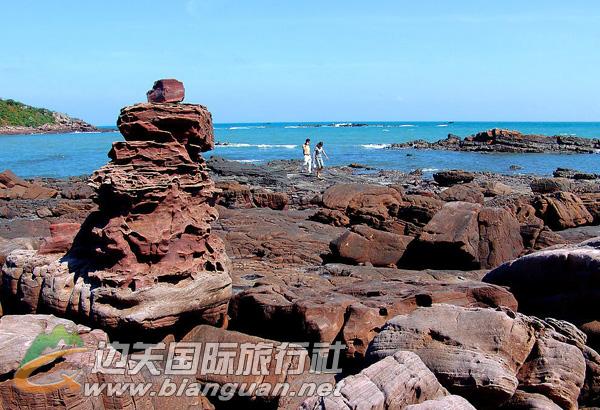 东兴野人谷漂流、防城港三岛三湾、江山半岛白沙湾、怪石滩3天2晚游